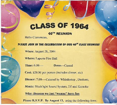 Reunion Party Invitations Graphics And Templates Class Reunion Invitation Template