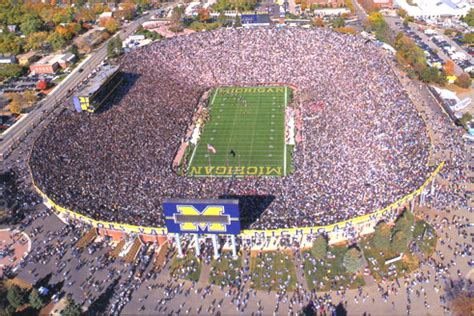 soccer game at the big house university of michigan the big house university of michigan poster photo