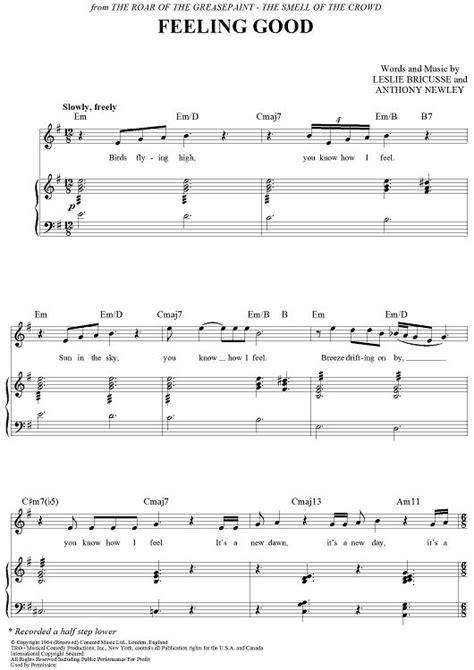 tutorial piano feeling good feeling good michael buble piano sheet music pdf michael