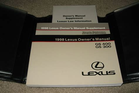 free service manuals online 1998 lexus gs parental controls 1998 lexus gs400 owners manual set 98 gs 300 400 w case ebay