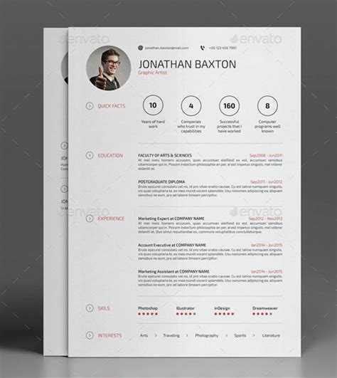 best cv best resume templates to help you land your in 2017