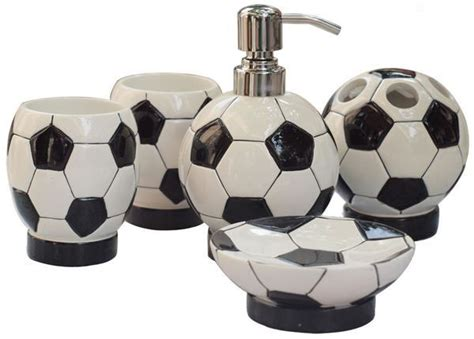 soccer bathroom decor boy kids bathroom accessories
