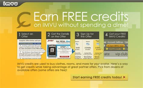 earn credits while taking advantage of great offers