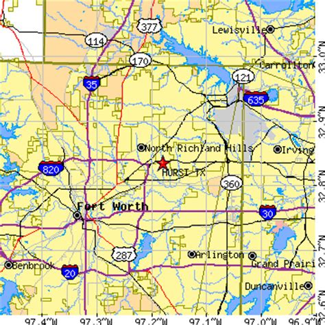 where is hurst texas on map of texas hurst texas tx population data races housing economy