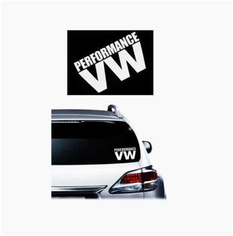 Vw Performance Aufkleber by Performance Vw Jdm Vinyl Decal Stickers