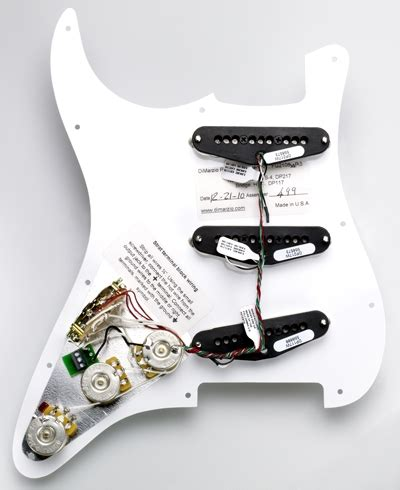 dimarzio hs strat replacement pickguard pre wired levytukku