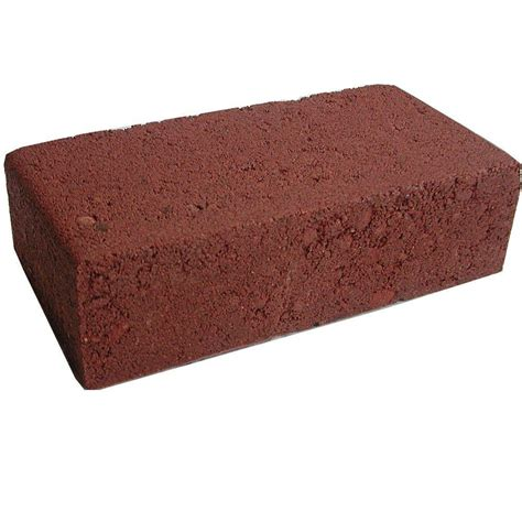 decorative bricks home depot oldcastle 2 in x 3 in x 7 in smooth red concrete brick
