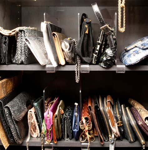 how to organize your clutch bags live simply by