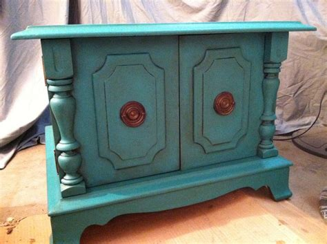 sold florence color end table sloan chalk paint teal turquoise aqua furniture