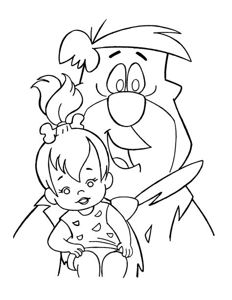 flintstones coloring pages coloringpages1001 com