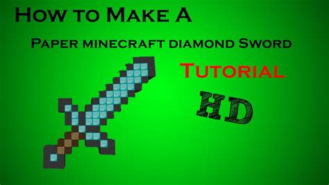 How To Make A Minecraft Paper Sword - how to make a paper minecraft sword tutorial