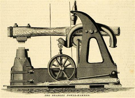 antique woodworking machines 1873 print bradley power hammer antique machinery tools