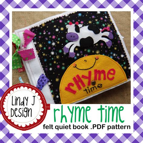 felt pattern book download rhyme time felt quiet book pdf pattern from lindyjdesign