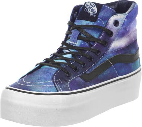 vans sk8 hi platform shoes cosmic galaxy