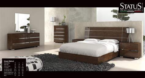dream king size modern design bedroom set walnut  pc bed   italy ebay
