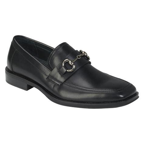 clarks s wave vortex slip on shoes black leather