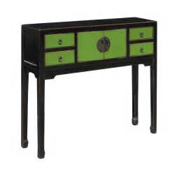 Skinny Sofa Table by Rustic Green Color Solid Wood Narrow Console Altar Table F812