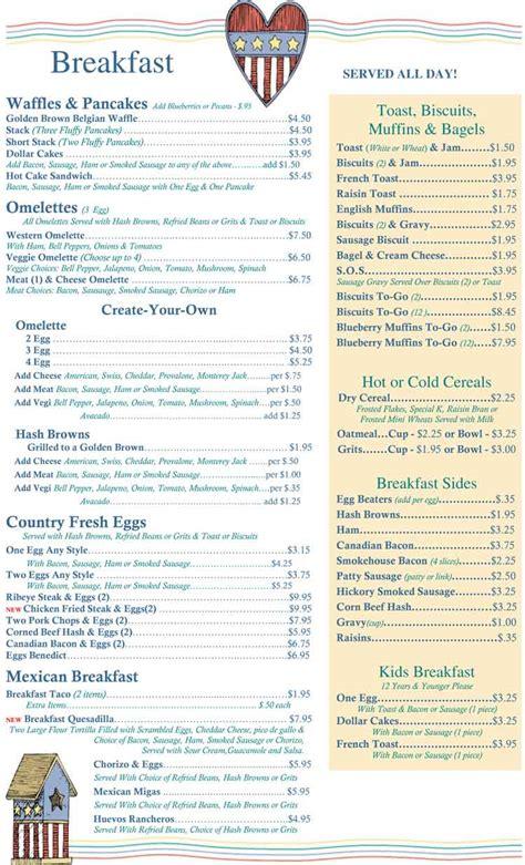 S Kitchen Cayman Menu by Corpus Christi Restaurants Andy S Country Kitchen