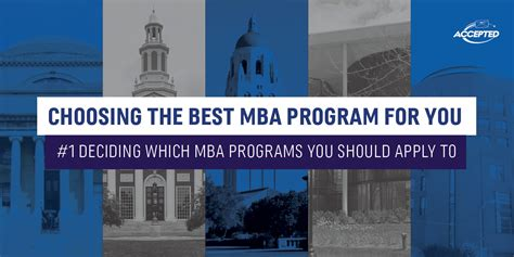 Choosing The Right Mba Concentration by Deciding Which Mba Programs You Should Apply To Accepted