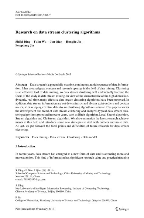 research paper on clustering research on data clustering algorithms pdf