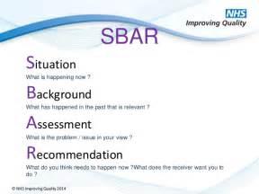communication using the sbar tool