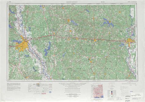 louisiana physical map shreveport topographic maps la usgs topo 32092a1