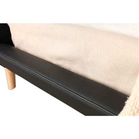 button bed frame button tufted king pu leather bed frame in black buy