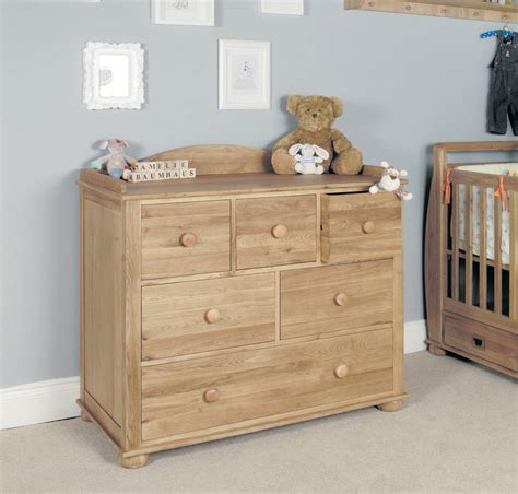 Baby Change Tables With Drawers Acorn Oak Baby Changing Table Chest Of Drawers By The Orchard Furniture