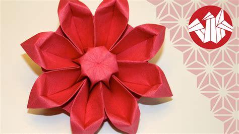 Origami Gerbera - origami fleur gerbera flower origami gerbera