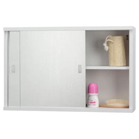 tesco bathroom cabinets buy tesco sliding mirror door white cabinet from