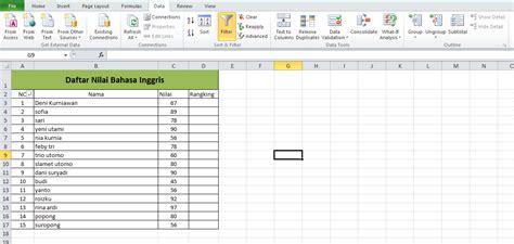 buat daftar isi di excel belajar excel cara mudah mengurutkan nomor yang acak