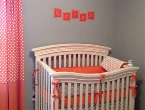 Orange And White Crib Bedding by Baby Bedding Crib Set Modern Gray White Orange