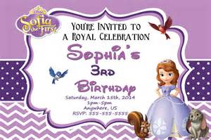 sofia the invitation template sofia birthday invitations templates