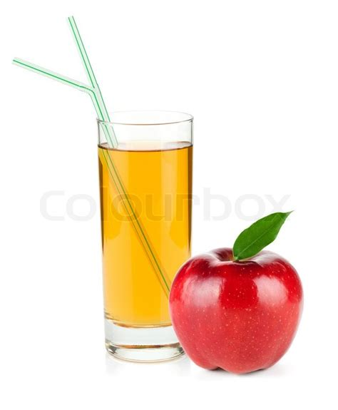 Cool Glassware apple juice in a glass and red apple stock photo colourbox