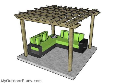 10x10 pergola plans myoutdoorplans free woodworking