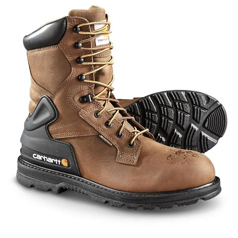 mens carhartt boots carhartt s soft toe waterproof 8 quot bison boots harness