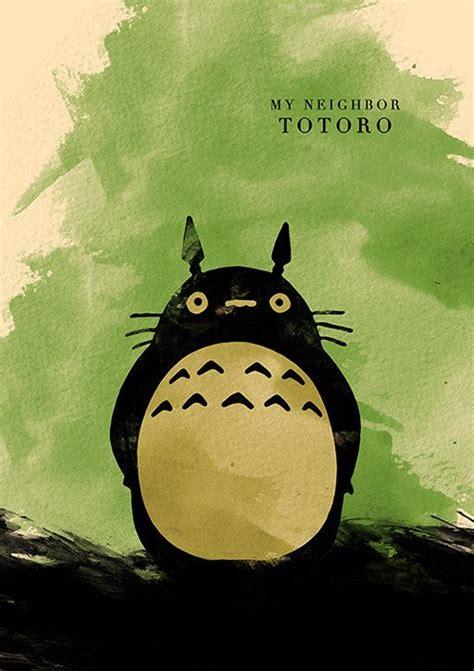 ghibli film set hayao miyazaki minimalist movie poster set my neighbor