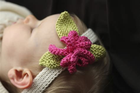 how to knit a flower for a baby hat knit baby headband patterns a knitting