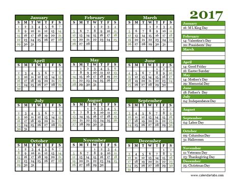 2017 Yearly Calendar Landscape 06 Free Printable Templates Free Photo Calendar Template 2017