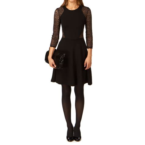 vianna lace dress black connection vienna lace jersey dress black black