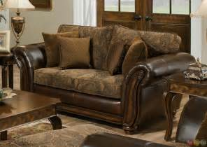 chenille living room furniture zephyr chenille and leather living room sofa loveseat set