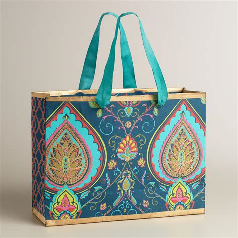Handmade Gift Bag - large desert paisley handmade gift bag world market