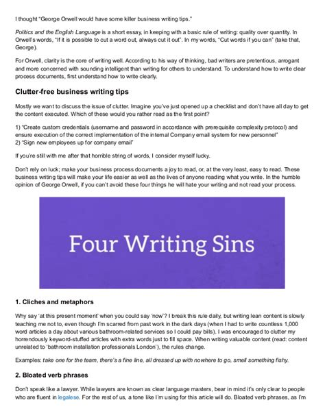 business letters writing tips business writing tips how to write processes for human beings