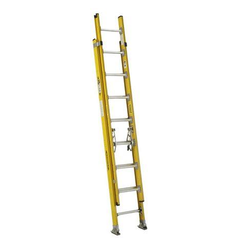 werner 3 section extension ladder werner 16 ft aluminum 3 section compact extension ladder