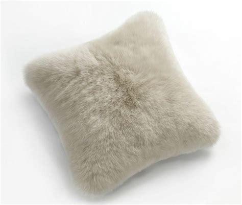 Sheep Skin Pillow by Fibre By Auskin Sheepskin Pillows 20 Fur Cushions Black