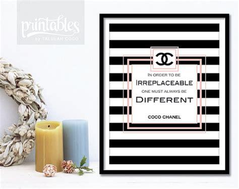 coco chanel quote printable diy home decor free 8 5 coco chanel quote 1 printable poster blush pink by