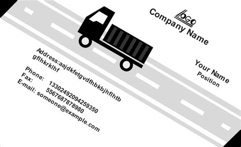moving company business card template moving company business card template