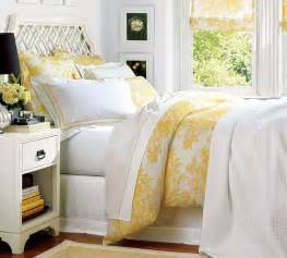 Yellow White Bedroom French Country Bedroom By Heather Van Veen Bedding From