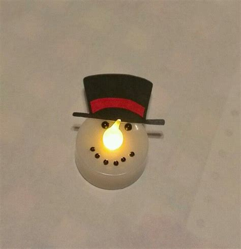 ikea tea light battery led tealight snowman tea light from ikea black sharpie