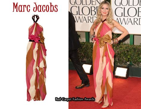 In Beckhams Closet Marc Carpet Fashion Awards by In Heidi Klum S Closet Marc Belted Halterneck